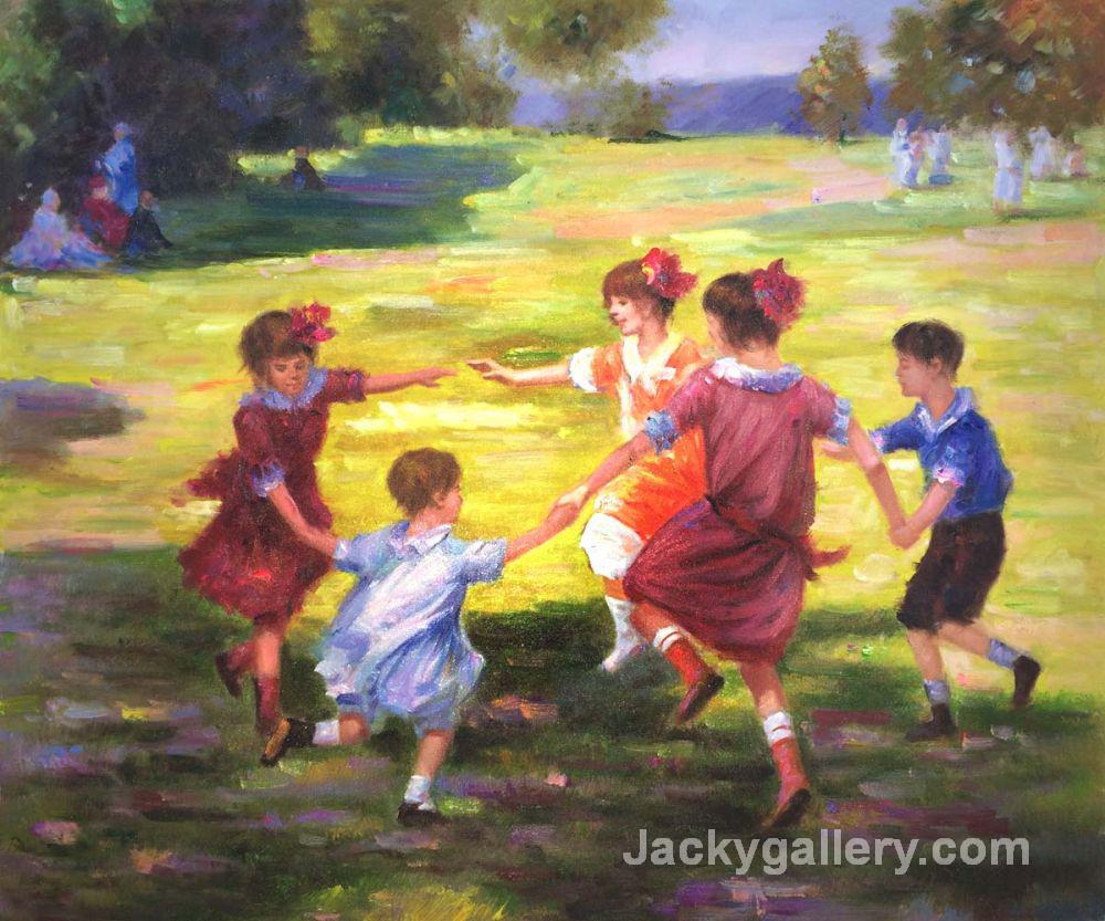 Ring Around the Rosie by Edward Henry Potthast paintings reproduction