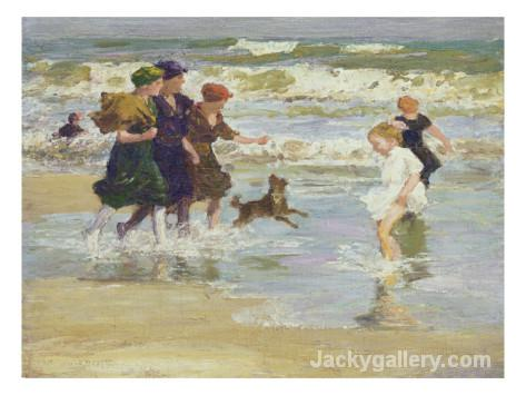 Splashing by Edward Henry Potthast paintings reproduction