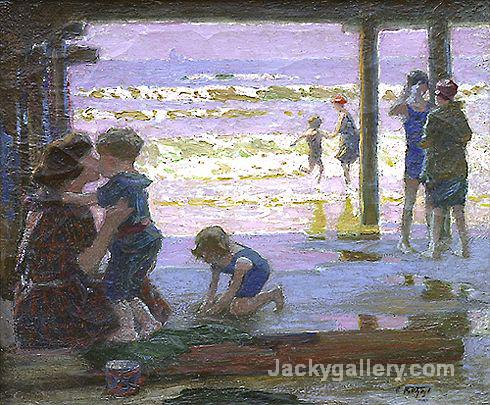 Sunlight and Shadow by Edward Henry Potthast paintings reproduction