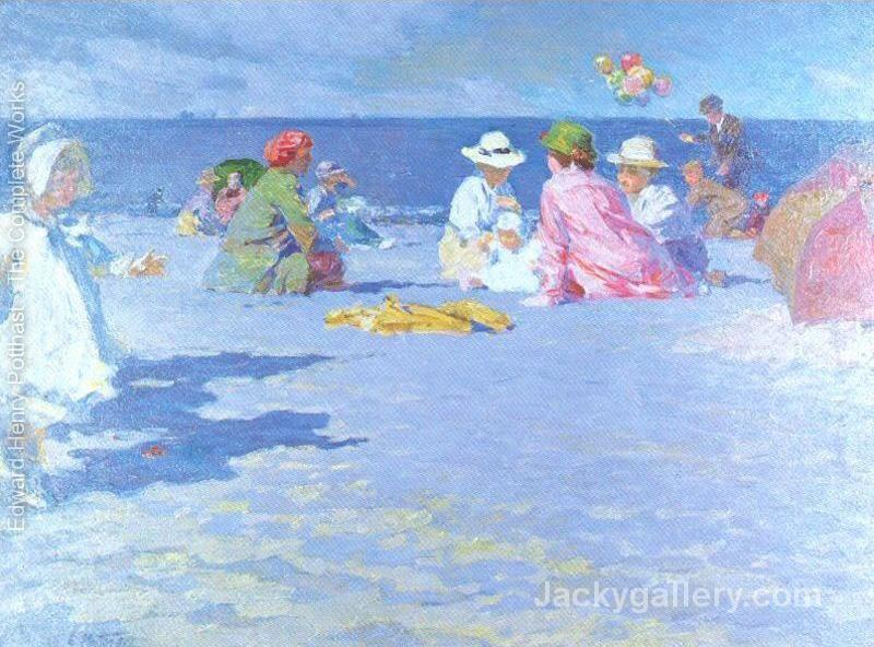 The Balloon Vendor by Edward Henry Potthast paintings reproduction