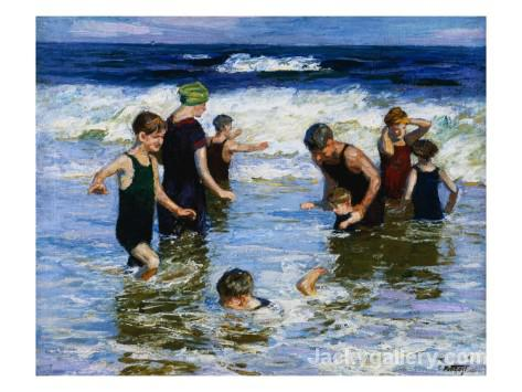 The Bathers by Edward Henry Potthast paintings reproduction