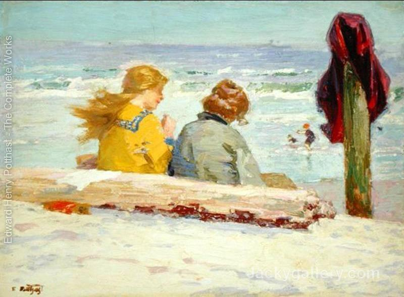 The Chaperones-15 by Edward Henry Potthast paintings reproduction