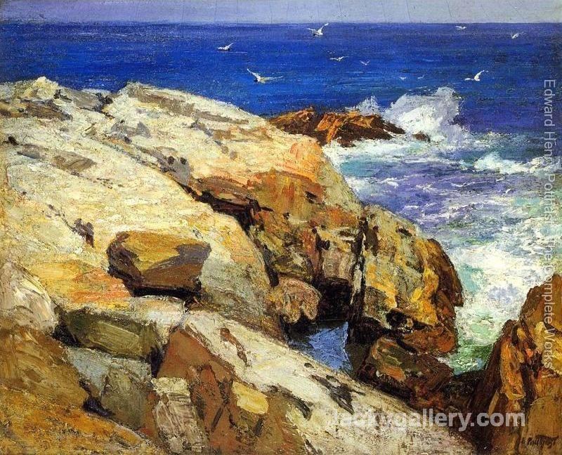 The Maine Coast by Edward Henry Potthast paintings reproduction
