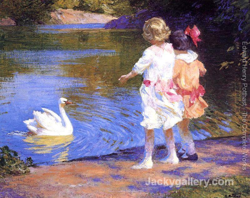 The Swan by Edward Henry Potthast paintings reproduction