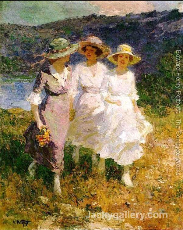 Walking in the Hills by Edward Henry Potthast paintings reproduction
