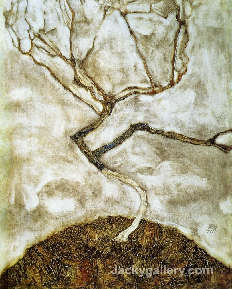 A Tree in Late Autumn by Egon Schiele paintings reproduction