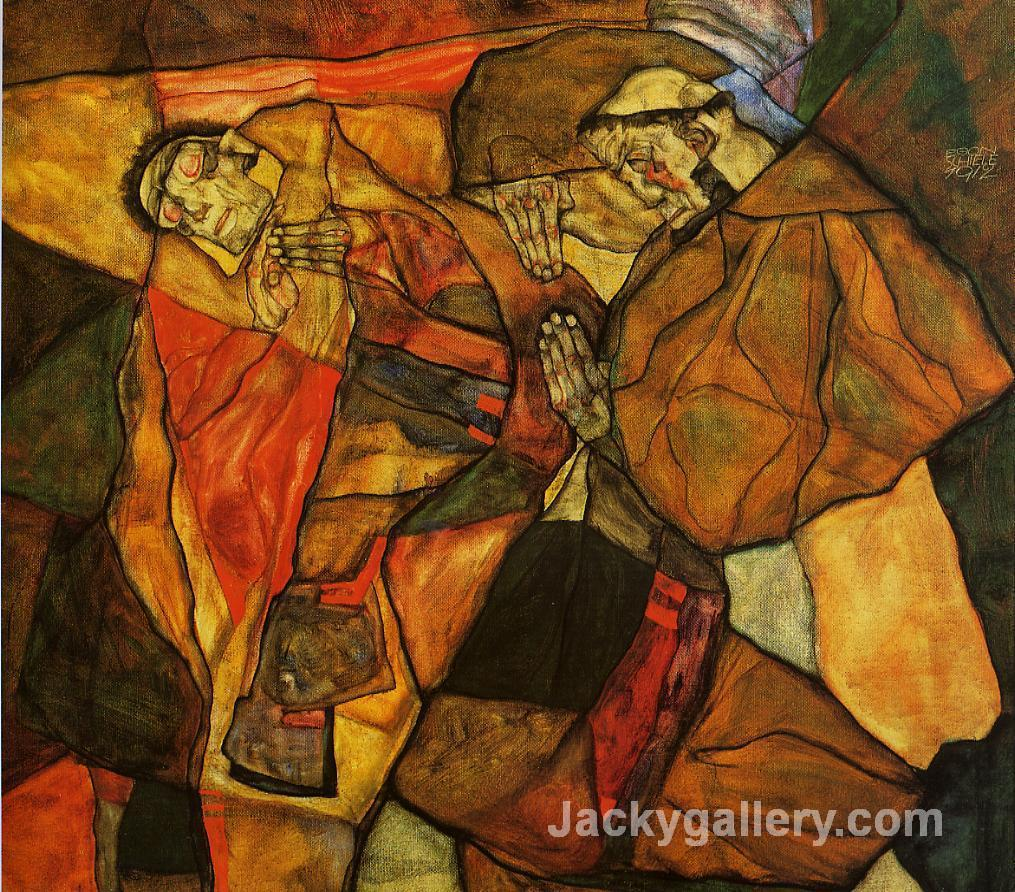 Agony by Egon Schiele paintings reproduction