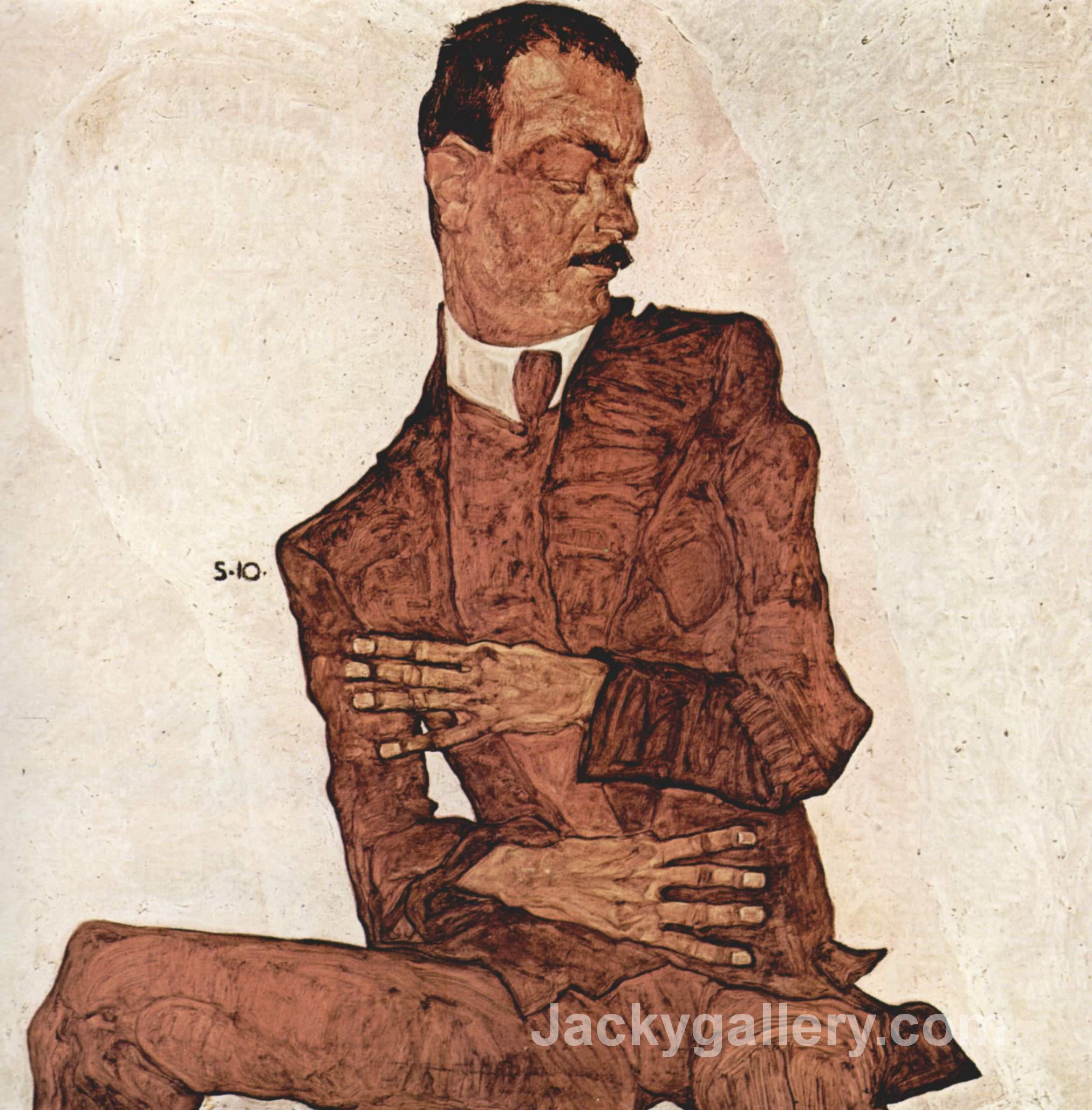 Arthur Roessler by Egon Schiele paintings reproduction