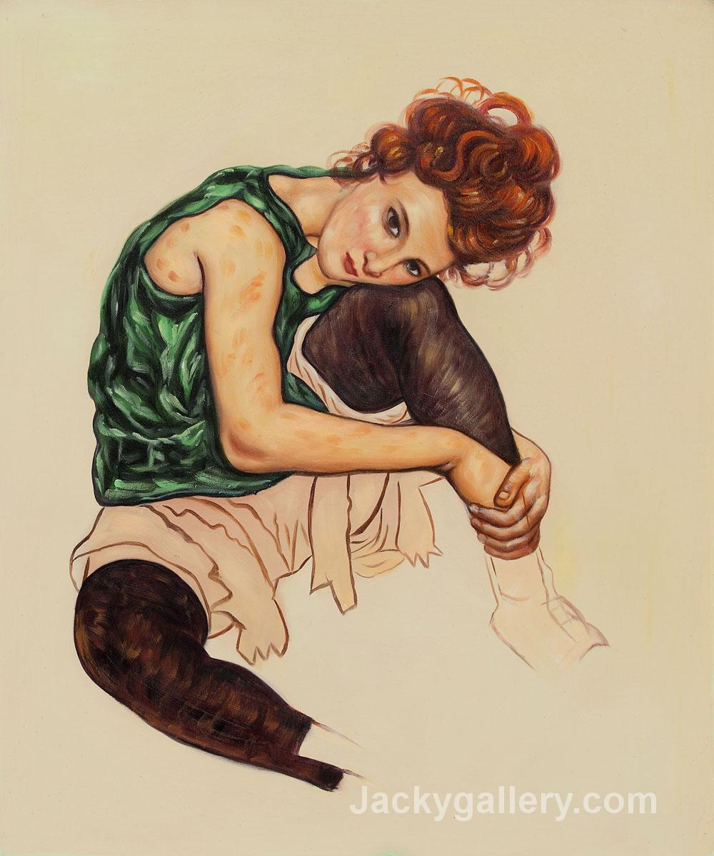 Artists Wife by Egon Schiele paintings reproduction