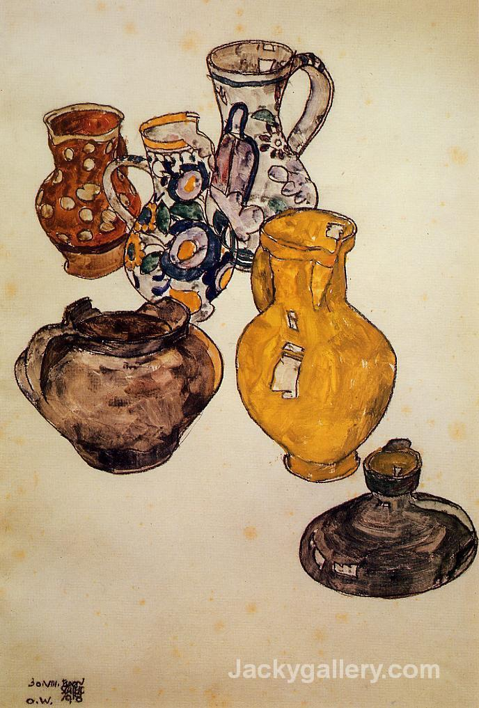 Ceramics by Egon Schiele paintings reproduction