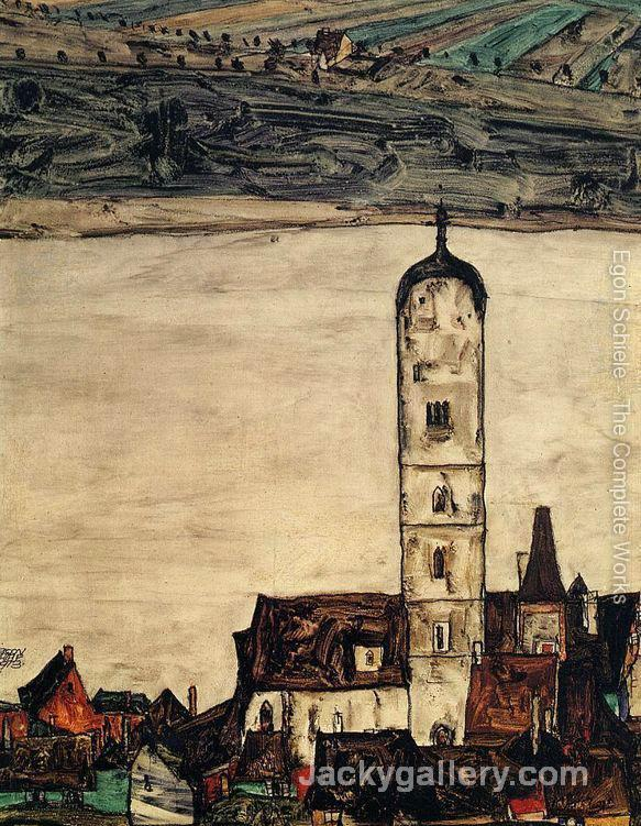 Church In Stein On The Danube by Egon Schiele paintings reproduction