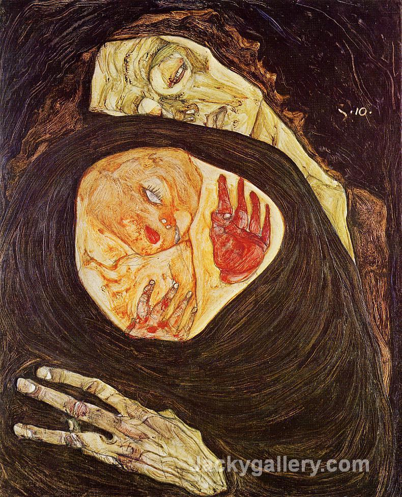 Dead Mother by Egon Schiele paintings reproduction