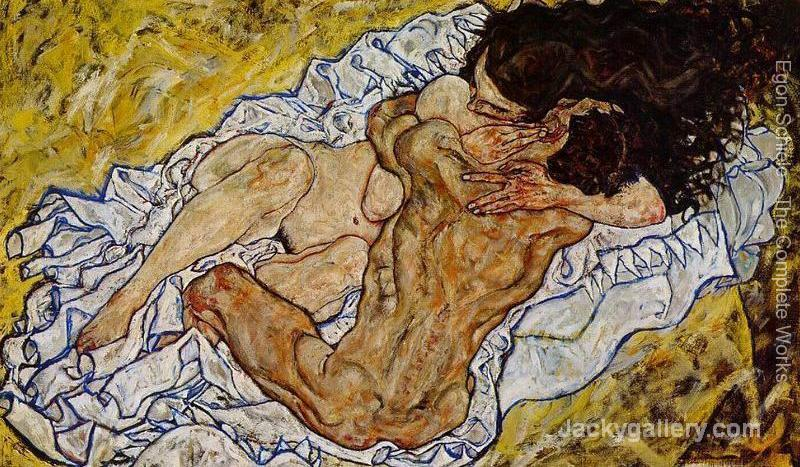 Embrace Aka Lovers II by Egon Schiele paintings reproduction