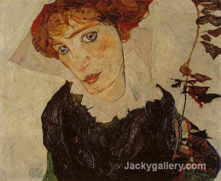 Portrait of Valerie Neuzil by Egon Schiele paintings reproduction