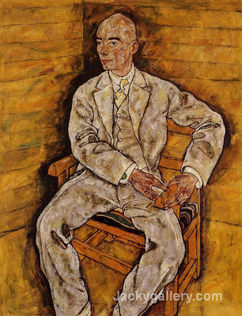 Portrait of Victor Ritter von Bauer by Egon Schiele paintings reproduction