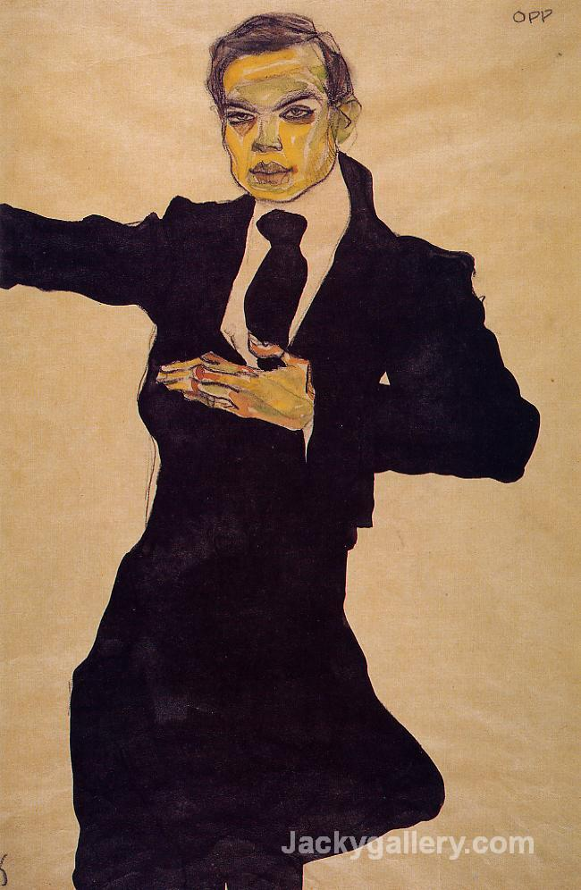 Portrait of the Painter Max Oppenheimer by Egon Schiele paintings reproduction