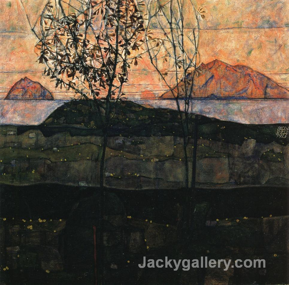 Setting Sun by Egon Schiele paintings reproduction