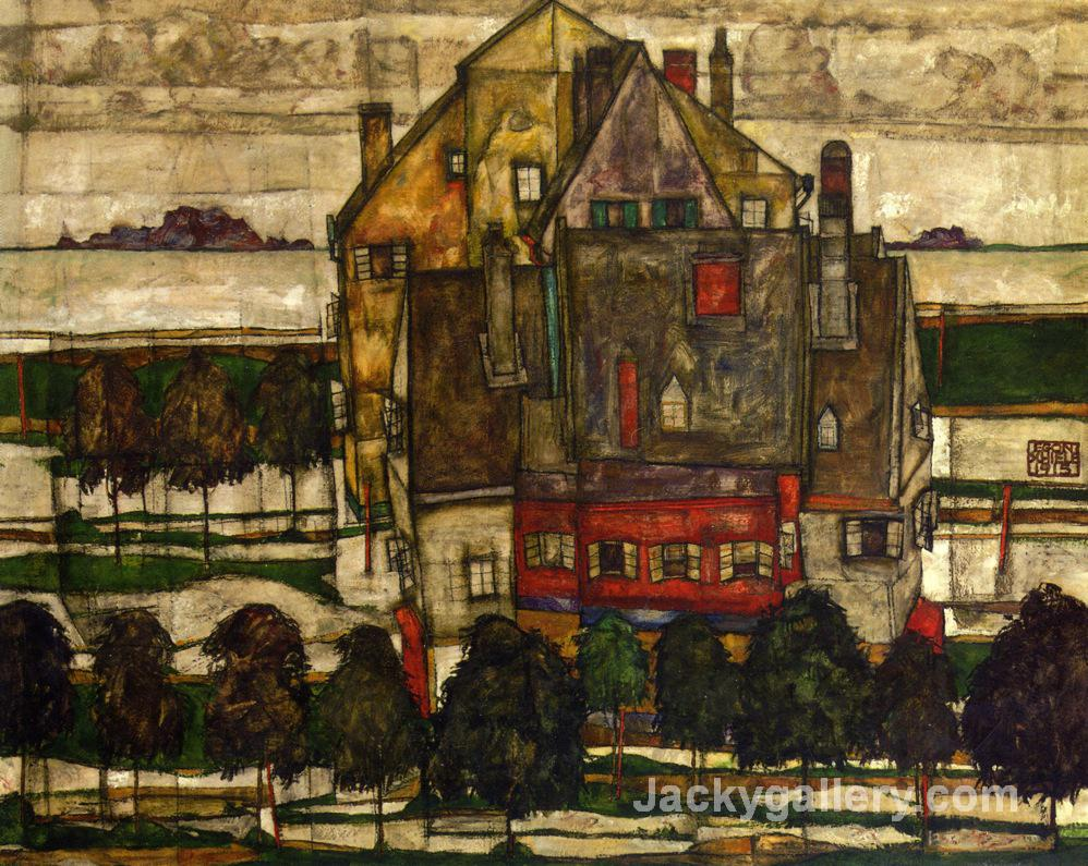 Single Houses by Egon Schiele paintings reproduction
