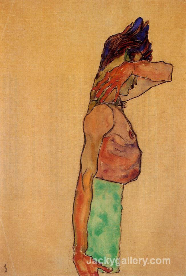 Standing Male Nude by Egon Schiele paintings reproduction