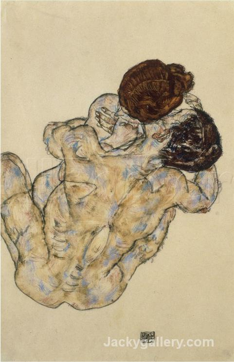 Umarmung (Embrace) by Egon Schiele paintings reproduction
