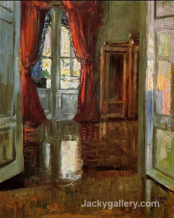 View Into The Apartment Of Leopold And Marie Czihaczek by Egon Schiele paintings reproduction