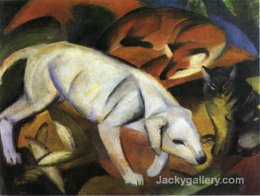 A Dog by Franz Marc paintings reproduction
