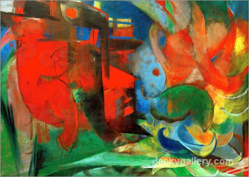Abstract Forms II by Franz Marc paintings reproduction