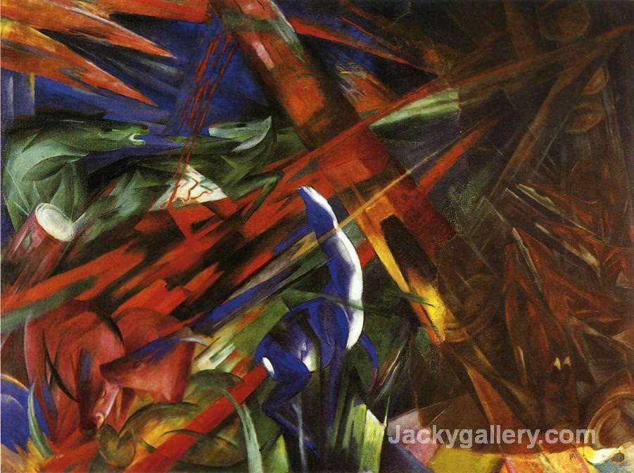 Animal Destinies The Trees show their Rings the Animals their Veins by Franz Marc paintings reproduction