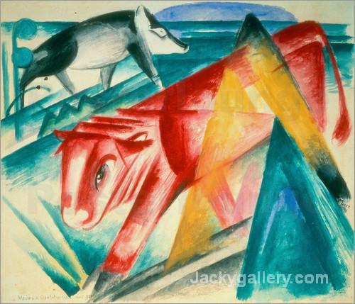 Animals by Franz Marc paintings reproduction