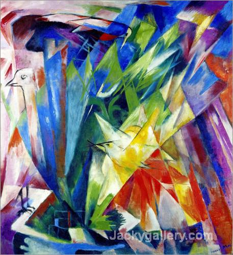 Birds by Franz Marc paintings reproduction