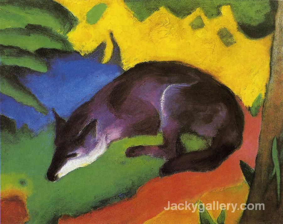 Blue Fox by Franz Marc paintings reproduction