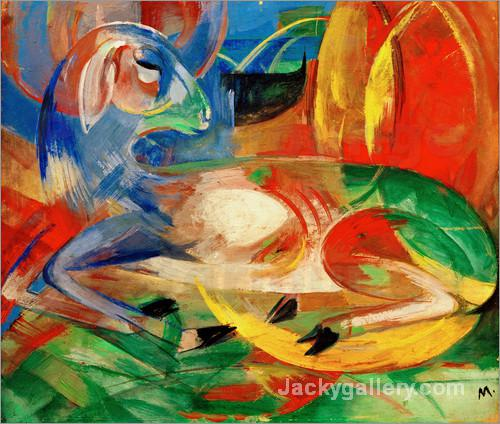 Blue Lamb by Franz Marc paintings reproduction