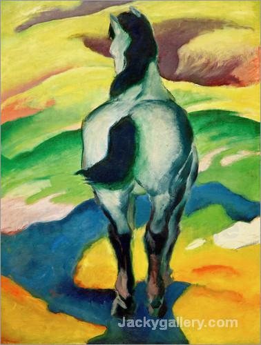 Blue horse II by Franz Marc paintings reproduction