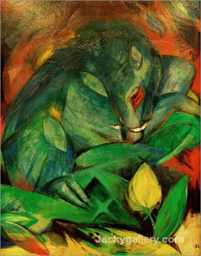 Boar and Sow (wild boars) by Franz Marc paintings reproduction