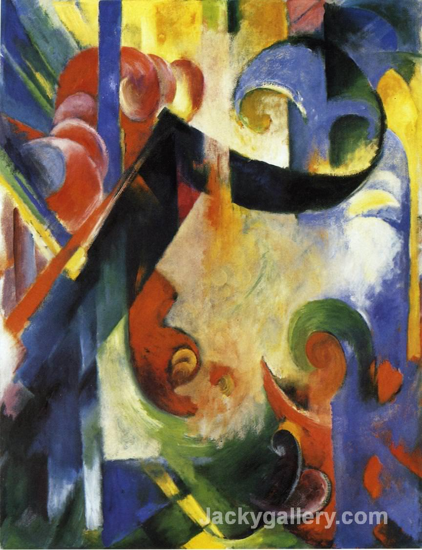 Broken Forms by Franz Marc paintings reproduction