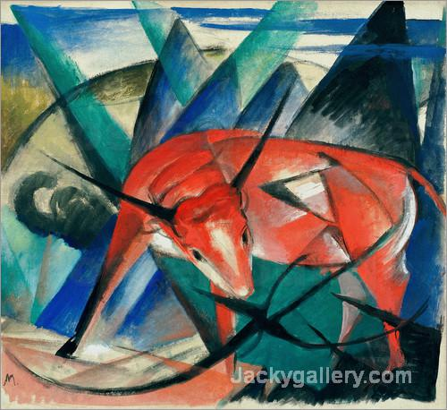 Bull by Franz Marc paintings reproduction