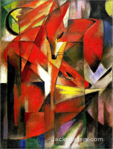 Foxes by Franz Marc paintings reproduction