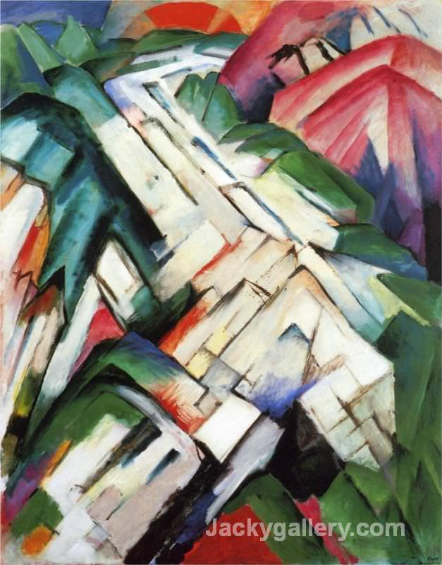 Mountains Rocky Way Landscape by Franz Marc paintings reproduction