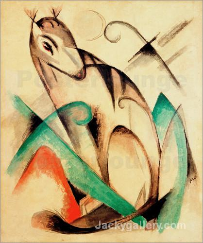 Mythical Creature Sitting by Franz Marc paintings reproduction