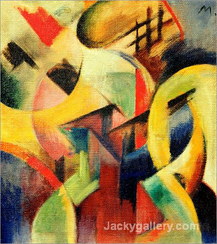 Small Composition I by Franz Marc paintings reproduction