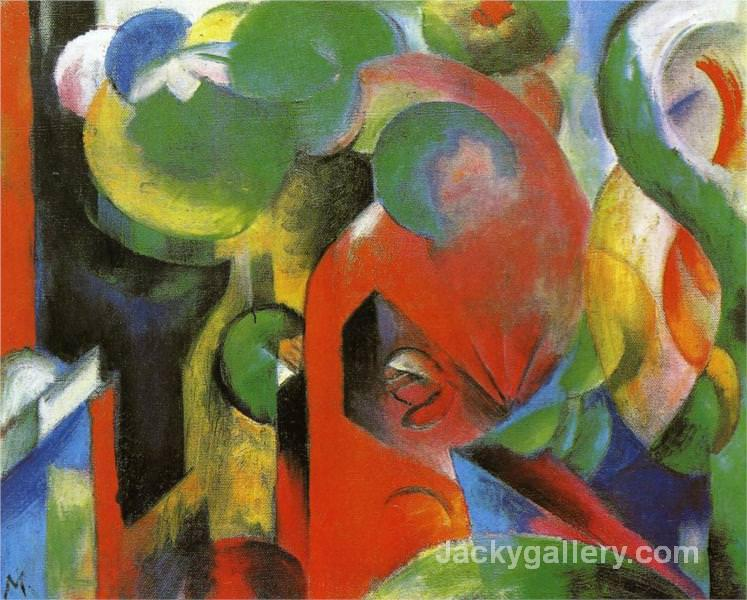 Small Composition III by Franz Marc paintings reproduction