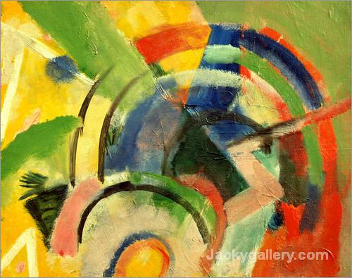 Small composition IV by Franz Marc paintings reproduction