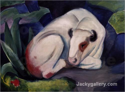 Taurus by Franz Marc paintings reproduction