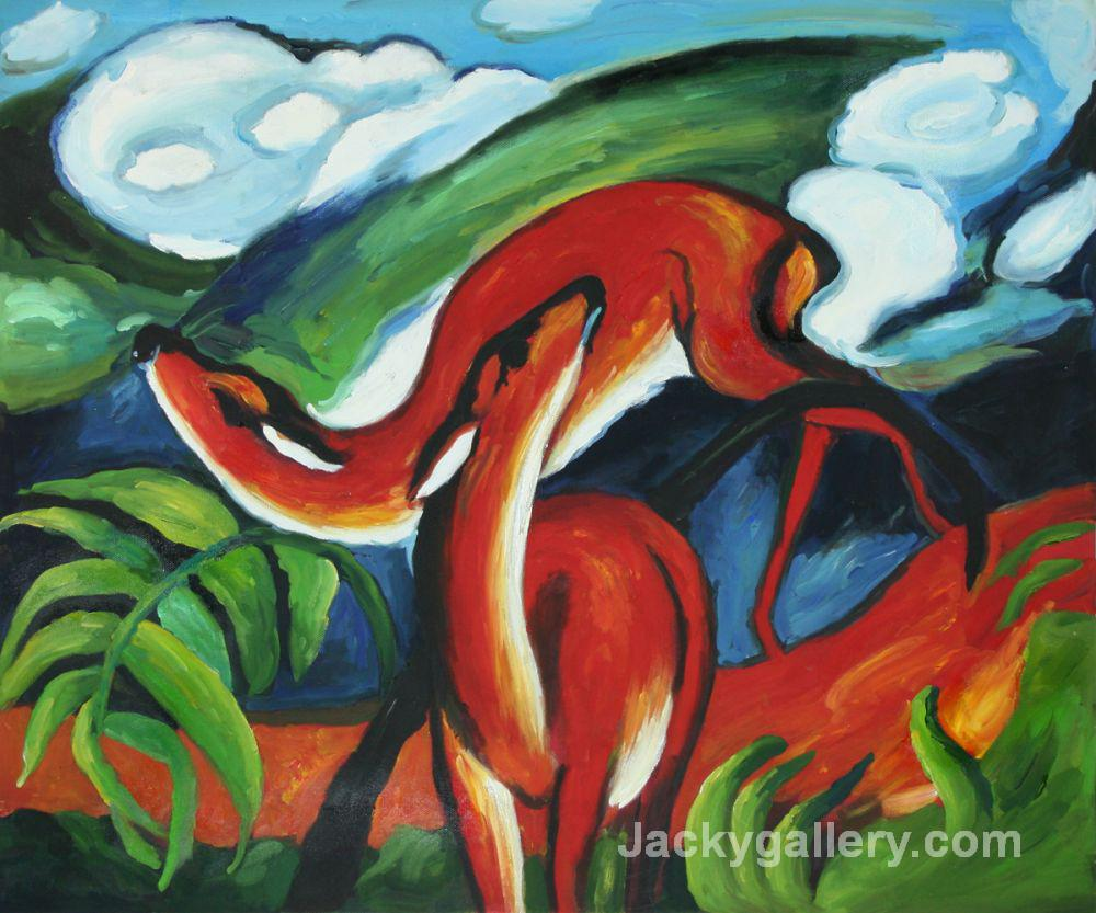 The Red Deer art by Franz Marc paintings reproduction