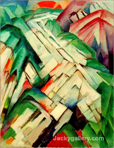 The Stony Path by Franz Marc paintings reproduction