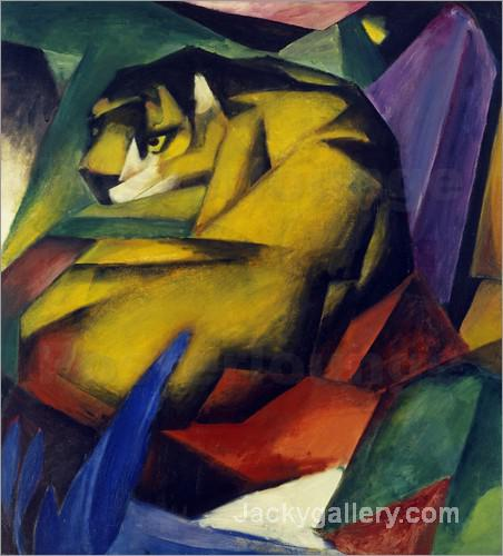 The Tiger by Franz Marc paintings reproduction