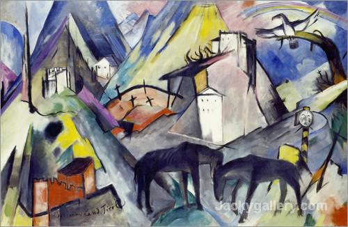 The poor country Tirol by Franz Marc paintings reproduction