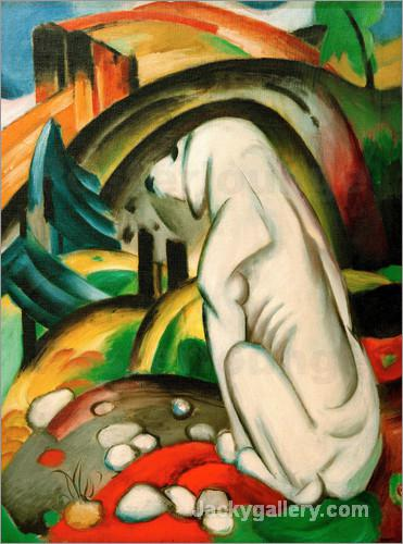 The white dog by Franz Marc paintings reproduction