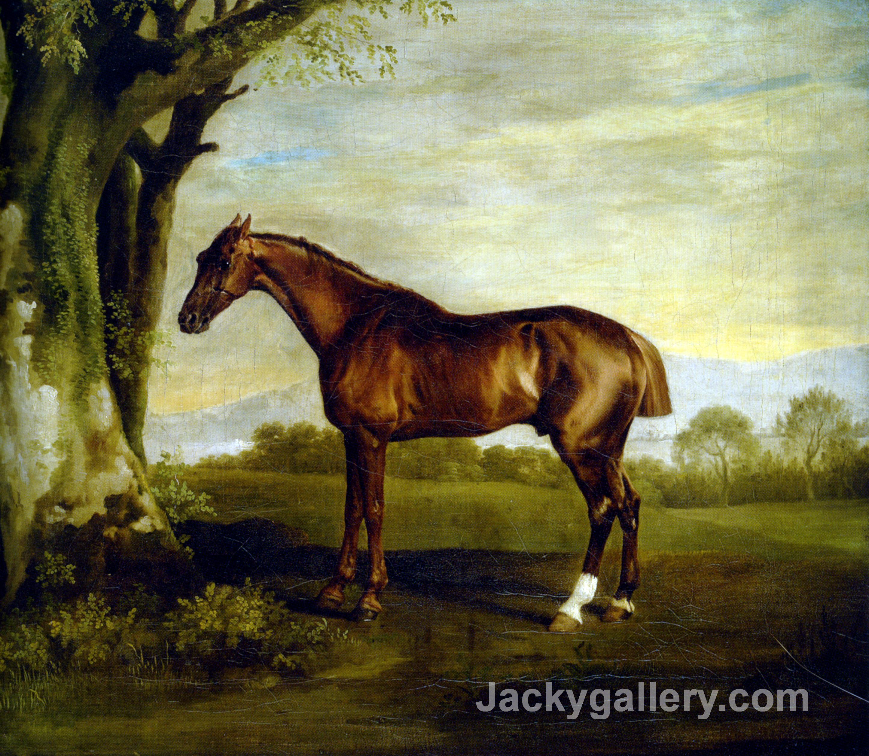 A Chestnut Racehorse by George Stubbs paintings reproduction