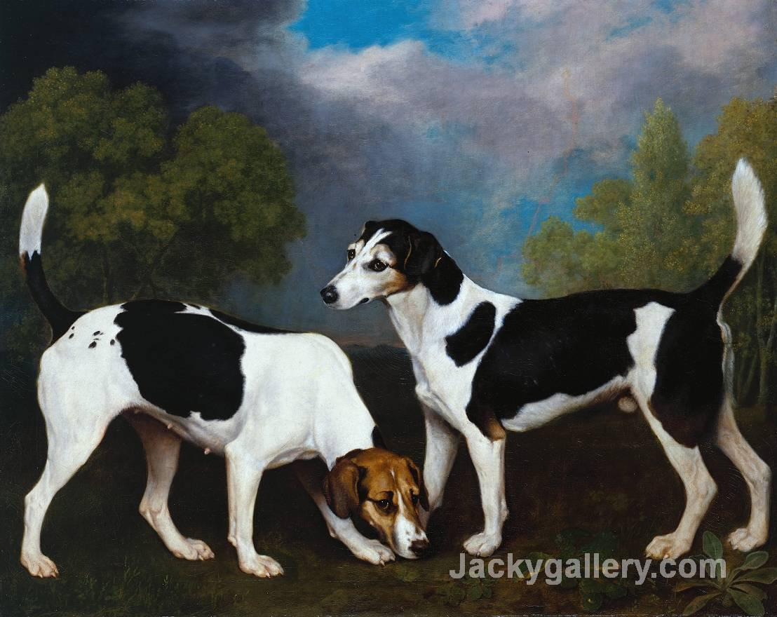 A Couple of Foxhounds by George Stubbs paintings reproduction
